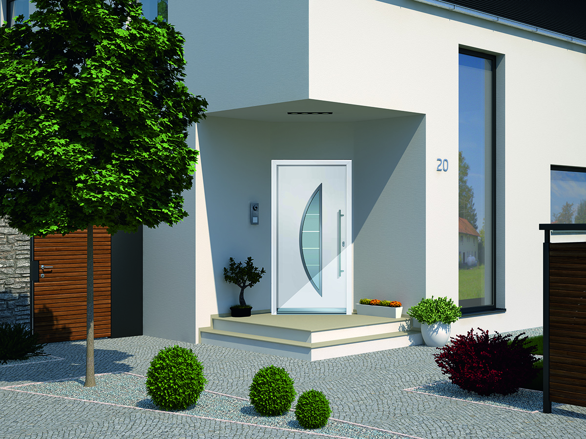 wei e aluminium haust r bauwiki. Black Bedroom Furniture Sets. Home Design Ideas