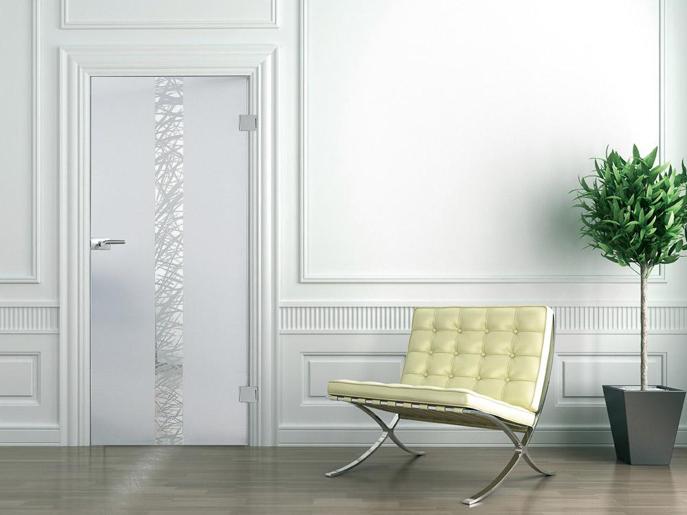 moderne glast r in matt mit siebdruck streifen bauwiki. Black Bedroom Furniture Sets. Home Design Ideas
