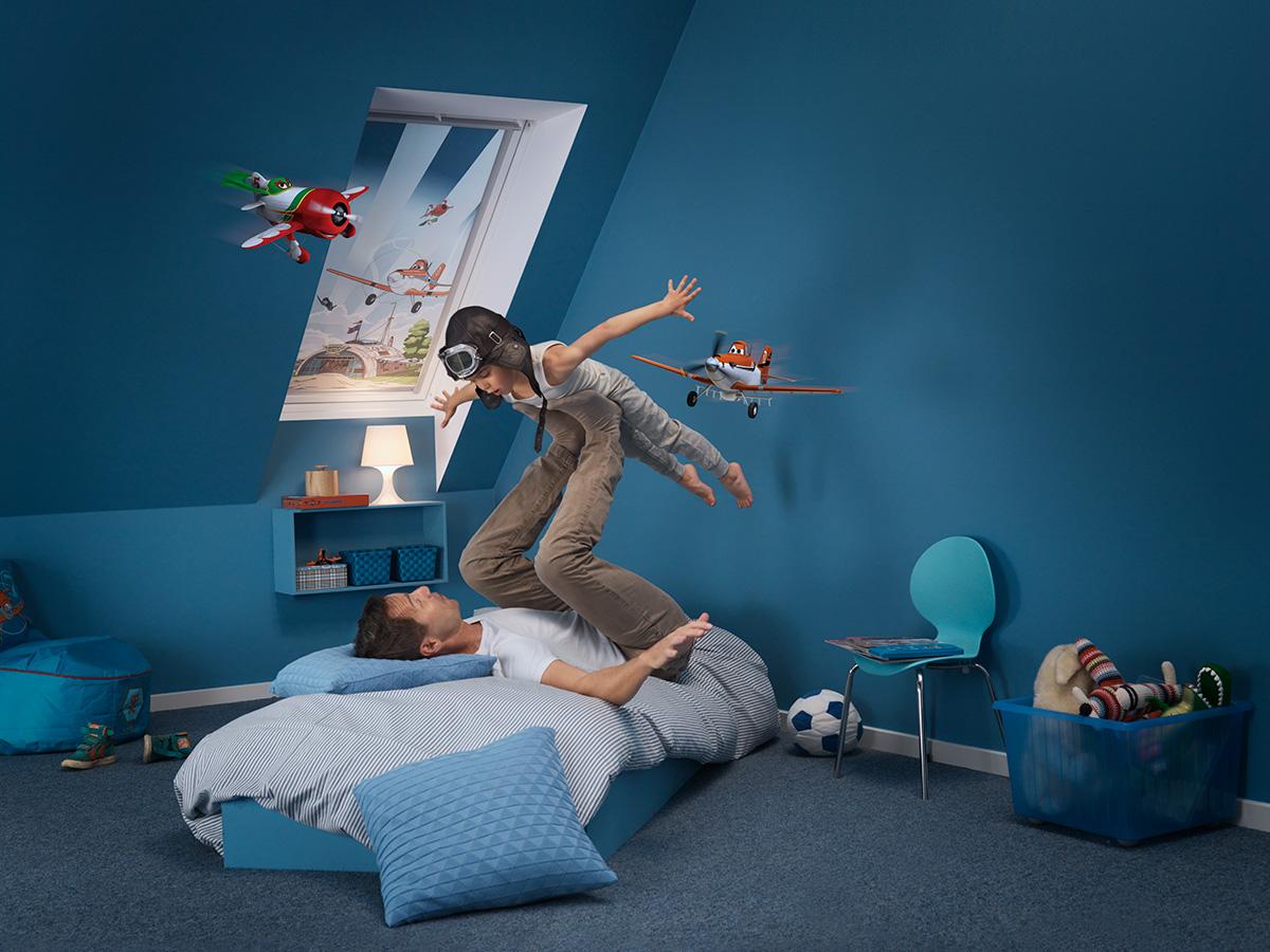 kinderzimmer mit flugzeug deko bauwiki. Black Bedroom Furniture Sets. Home Design Ideas